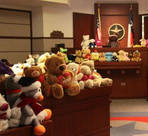 The Denton County Courts Building is transformed annually for Denton County Adoption Day.