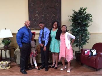 Attorney Toya Brown with her family
